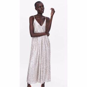 Zara Sequin Maxi Dress
